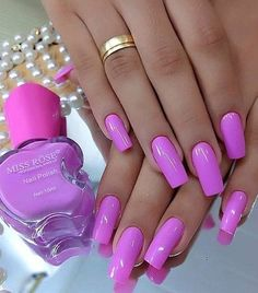 160 best chosen acrylic oval nails design for summer prom and wedding 1 my.ea 160 best chosen acrylic oval nails design for summer prom and wedding 1 my. Magenta Nails, Pink Nails, Toe Nails, Nail Nail, Neon Pink Nail Polish, Pink Acrylic Nails, Coffin Nails, Sexy Nails, Trendy Nails