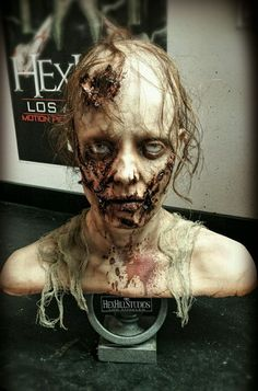 NEW! PRO FX The Walking Dead Life Size Tribute Zombie Bust #Halloween Prop