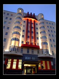 """The Beresford, Glasgow, Scotland by SueKay Oft-photographed Deco hotel. Artist notes: """" The Beresford was once one of Glasgow's top hotels. It was refurbished a few years ago, and is now one of..."""