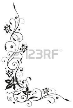 Elemento floral, arte preto foto