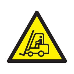 Fork Lift Truck Symbol Only Sign Truck Signs, Lifted Trucks, Signage, Safety, Industrial, Symbols, Fork Lift, 30th Party, Vehicles