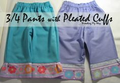 Pleated Cuffs Tutorial; an easy way to pretty up a pair of pants ~ Threading My Way