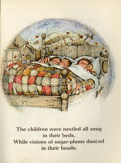 """❤️A page from Holly Hobbie's """"The Night before Christmas"""""""