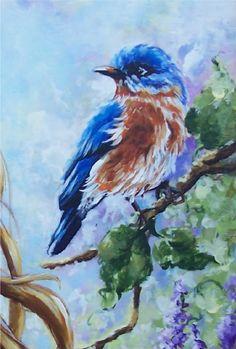 Blue bird - by Johnny Petros