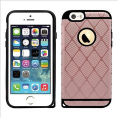 IPhone SE / 5S Rugged Rubber Protective Case Cover Rose Gold