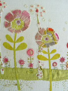 ♒ Enchanting Embroidery ♒ embroidered flowers