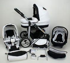 Completely GORGEOUS!!  Kombi-Kinderwagen SILVER + Babyschale in 29 Farben EUR 299,00