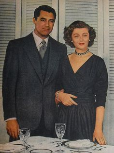 "From 1948 this image of Cary Grant and Myrna Loy is from the top portion of a International Sterling Ad (Cutlery), capitalizing on this film persona of these two as a couple in  ""Mr. Blandings Builds His Dream House"""