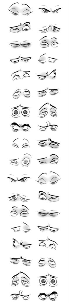 38 Ideas Drawing Faces Animation Cartoon Eyes For 2019 Cartoon Eyes, Cartoon Drawings, Cartoon Art, Art Drawings, Drawing Faces, Cartoon Characters, Drawing Lessons, Drawing Techniques, Drawing Tips