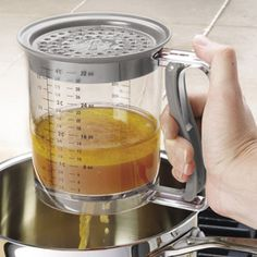 CHEFS Grease Separator  The mess-free way to strain fats from broth for perfect sauces and gravies. $15.95