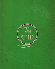 """The End"" by Kathryn Sutcliffe on Flickr - The back cover of 1930's/1940's scrapbook"