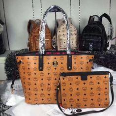 MCM Medium Visetos Reversible Baroque Shopper Tote In Brown Louis Vuitton Handbags Prices, Mcm Handbags, Handbags On Sale, Black Handbags, Mcm Shoes, Mcm Purse, Mcm Backpack, Mcm Bags, Shopper Tote