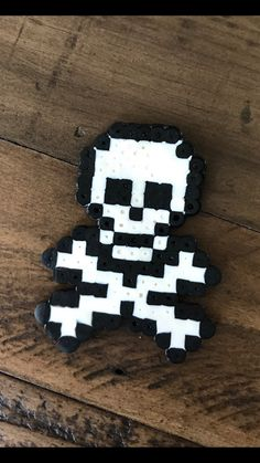 Skull and cross bones perler beads