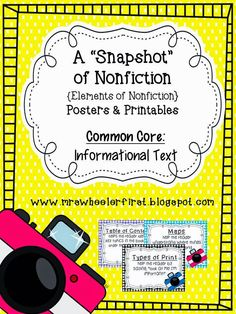 """Help your students explore the features of nonfiction with this set. This meets the Common Core Standard: Information Text {Craft and Structure} which states """"Know and use various text features to locate key features and information in a text. Nonfiction Text Features, Fiction And Nonfiction, Fiction Books, Nonfiction Activities, Library Activities, Reading Activities, Guided Reading, Text Craft, Informational Writing"""