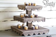 diy cupcake stand - could add paint to match event