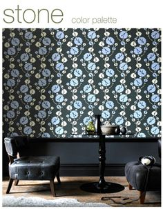 wallpaper, by amy butler! i would paper every single wall in my house with this stuff. too much? probably.