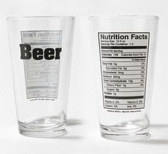 MANCRAY - things that matter to men - Pin Details: Beer-Nutrition-Pint-Glass