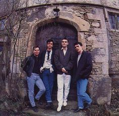 The Smiths at The Wool Hal Studios, Bath, England on March 24, 1987 ― photo by Andre Csillag.