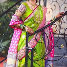 Image may contain: one or more people Marathi Bride, Marathi Wedding, Saree Wedding, Wedding Bride, Wedding Saree Collection, Latest Sarees, Bride Look, My Collection, Indian Dresses