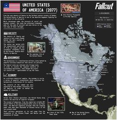 -- Author's Note -- Fallout 76 is coming out and it's looks great from what I've seen. Fallout - United State of America Fallout Map, Fallout Lore, Fallout Facts, Fallout Fan Art, Fallout Concept Art, Fallout Funny, Fallout New Vegas, Post Apocalyptic Series, Imaginary Maps