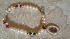 Pulsera perla de río .cristal checo y swaroaky. Kml