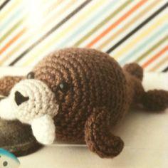 "Something animal (Little amigurumi walrus, from Lion Brand Yarn's ""easy crochet critters"")"