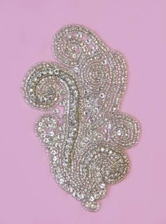 Swarovski Crystal Beaded Paisley Applique - PEGASUS
