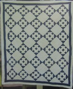 Monkey Wrench Quilt at www.antiquequilts.com/catalog16.htm#17618