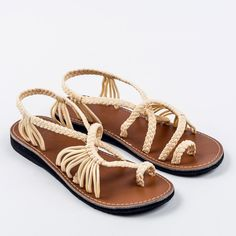 12b39e9b4fb Palm Leaf Sweet-Ivory – Plaka Sandals Summer Flats