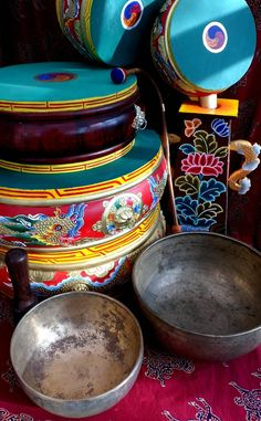 Tibetan Drums and Bowls