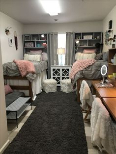 33 Awesome College Bedroom Decor Ideas And Remodel Dorm Room Decor Ideas Awesome Bedroom College decor ideas Remodel College Bedroom Decor, Cool Dorm Rooms, Dorms Decor, College Dorm Decorations, Pink Dorm Rooms, Dorm Room Colors, Preppy Dorm Room, College Dorm Bedding, Ole Miss Dorm Rooms
