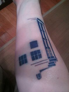 """""""Get half the tardis in black light ink then can be reappearing on my arm"""" that's a cool idea. i'm thinking more of a subtle way to go, like a light brownish color behind the ear, almost like a birthmark."""