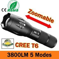 פנס LED 3800 Lumnes CREE XM-L T6 LED טקטי פנס לפיד 5 מצב Zoomable פנס עמיד למים לפיד אור lanternas