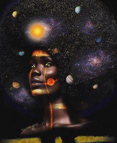 New Black Art Drawings Artworks Natural Hair Ideas Black Love Art, Black Girl Art, Art Girl, Black Art Painting, Black Artwork, African American Art, African Art, Wal Art, Black Art Pictures