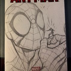 Marvel Drawing Spider-Man and Ant-Man by Jose Varese Drawing Cartoon Characters, Character Drawing, Cartoon Drawings, Cartoon Art, Pencil Art Drawings, Cool Art Drawings, Art Drawings Sketches, Spiderman Drawing, Spiderman Art