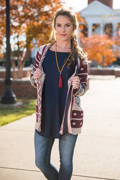 Lift Me Up Cardigan, Burgundy