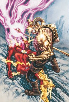 Scott Kolins - Magog vs Flash