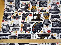 She Who Sews Vintage Sewing Motifs fabric by Loriscountryfabrics, $8.95