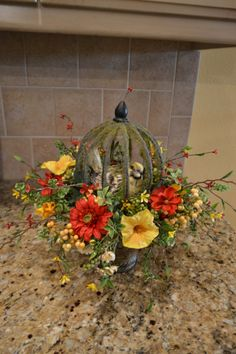 Summer Birdcage Arrangement by kristenscreations on Etsy