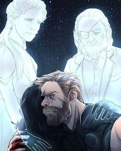 Credit to original artist Loki and Thor Loki Thor, Loki Sad, Loki Marvel, Loki Laufeyson, Marvel Dc Comics, Loki Fan Art, The Avengers, Memes Marvel, Asgard