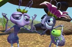 """Atta and her mom, the queen, in """"A Bug's Life. A Bugs Life Characters, Pixar Characters, Disney And Dreamworks, Disney Pixar, Walt Disney, Queen Ant, Julia Louis Dreyfus, A Bug's Life, Heart For Kids"""