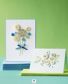 Button Embroidery Card...tutorial