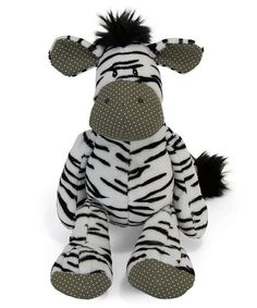 Jumbledies Zebra Plush Toy