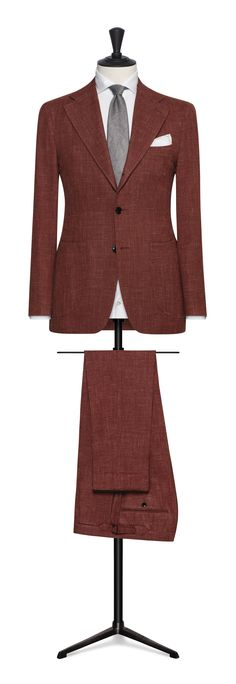 rust/burnt orange made to measure suit Made To Measure Suits, Burnt Orange, Rust, Blazer, Business, Jackets, Travel, Fashion, Down Jackets