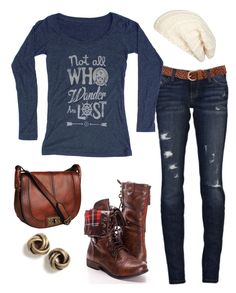 Navy blue shirt brown boots outfit ideas adventure quote