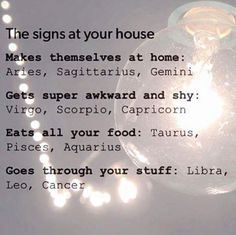 Zodiac Signs (For Fun)