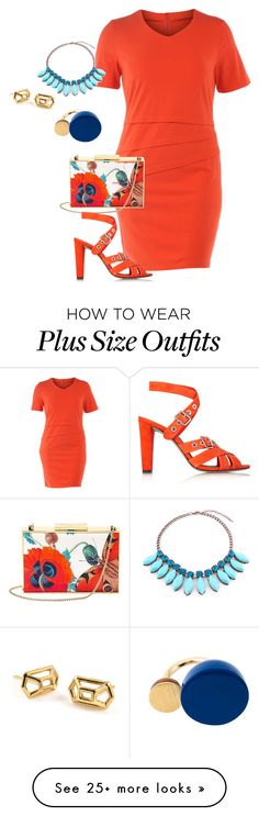 """""""plus size color chic"""" by kristie-payne on Polyvore featuring Manon Baptiste, Marc by Marc Jacobs, Aspinal of London and Alexander Wang"""