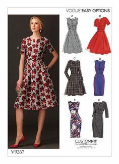 63bdb20f0260 Schnittmuster, Nähen, Kleid nähen Schnittmuster Vogue 9267 Kleid Gr A5 6-14  (