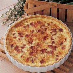 Impossible Quiche Lorraine Recipe by ARIELLEKELLY via @SparkPeople