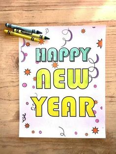 FREE New Years Coloring Page